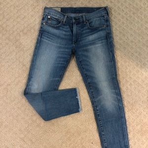 Polo cropped skinny jeans